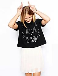 Abigail Round Collar Short Sleeve Print Fashion Shirt