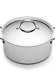 BODEUX® Series No Coating High Soup Pot 24cm 304 Stainless Steel Dia 26cm*18cm