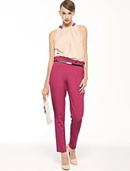 JOANNE KITTEN Women's Pink/Green/Beige Jumpsuits , Vintage/Casual/Work Sleeveless