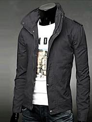 Heide Men's Bodycon Stand Collar Long Sleeve Jacket