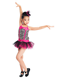 Dresses Children's Performance Polyester / Tulle / Lycra Animal Print Apple Green / Pink Modern Dance / Jazz / PerformanceSpring, Fall,