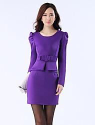 Xinfu ™ женская большая ярдов платье кальян рукав развивать нравственность платье закрыт карманы хип платье