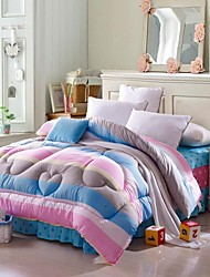 Shuian® Comforter Winter Quilt Keep Warm Thickening  Quilts with Printing Rainbow Pattern