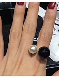 Viva Women's Korean Pearl  Ring(Size-Adjustable)