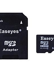 easeyes 8gb classe 10 micro scheda di memoria SDHC con adattatore SD