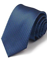7 CM Wide Black&Blue Silk Tie