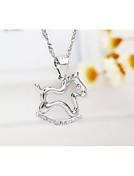 I FREE®Kid's Trojan Shape S925 Silver Pendant Necklace 1 pcs