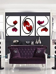 Personalized Canvas Print Stretched Canvas Art Red Vines Flower  35x50cm  40x60cm  50x70cm  Gallery Wrapped Art Set of 3