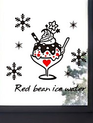 Wall Stickers Wall Decals, Modern red bean ice water PVC Wall Stickers