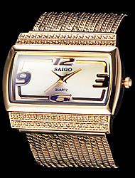 Women's Fashion Watch Bracelet Watch Wrist watch Quartz Stainless Steel Band Sparkle Gold Brand