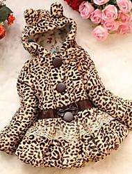 леопард девушки с капюшоном шуб
