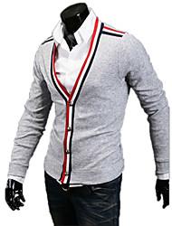 moda individualidade botão fino casaco de malha cardigan