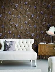 mur papier mural, fleurs de style européen du papier peint de PVC