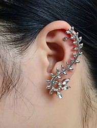 Poignets oreille Alliage Strass Imitation de diamant Forme de Feuille Bijoux Mariage Soirée Quotidien Décontracté Sports