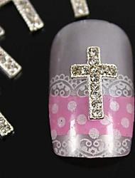 10pcs argent bricolage art accessoires Conseils strass passage des doigts de la décoration des ongles