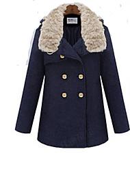 d&YY женщин теплое пальто шерсти