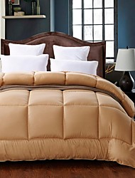 Shuian® Comforter Quilt Keep Warm Thickening Sanding Printed Quilts Camel Color