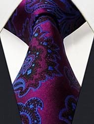 ocasional floral impressão multicolor seda gravata dos homens