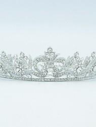 Fashion Clear Rhinestone Round Flower Tiara Crown for Bridal Wedding Prom