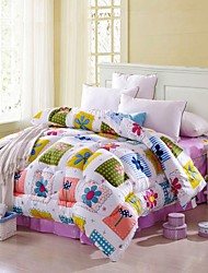 Shuian® Comforter Winter Quilt Keep Warm Thickening  Quilts with Printing Geometry Pattern
