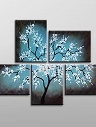 Hand Painted  Floral  Oil Painting with Stretched Frame Set of 5