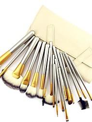 18 Makeup Brushes Set Goat Hair / Pony / Synthetic Hair / Nylon / Horse Face / Lip / Eye Others