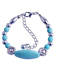 Lureme®Turkey Blue Tophus Oval Rammel Bracelet