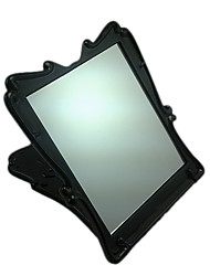 Black square Comestic Mirror with Rose Pattern