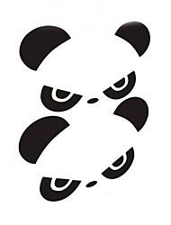 personnalité panda miroir rétroviseur de voiture autocollant (2pc)