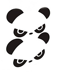 Persönlichkeit Panda Auto-Rückspiegel Aufkleber (2pc)