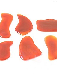 Natural Carnelian Guasha Tool for Massager Beauty Health Care Products Body Massage Therapy Random Delivery