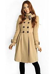 Women'S Fashion Autumn And Winter Woolen Warm Overcoat Outerwear