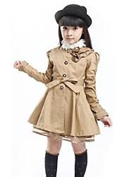 Girl's Fashion And Joker Lovely Long Windbreaker