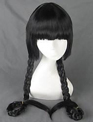 zona 00 Mayoko trenza larga peluca cosplay negro 100cm