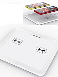 2 in 1 QI Standard Ultrathin Plate Pad Wireless Power  Charger for Samsung  Nokia  LG  HTC  iPhone (White)