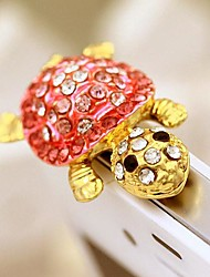 Tortoise Shaped Zircon Alloy Anti-dust Plug(Pink) DIY for iPhone 8 7 Samsung Galaxy s8 s7