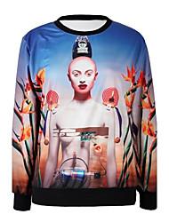 PinkQueen® Women's Spandex The Robot Printed Sweatshirt