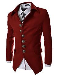 Jogal 3D Stand Collar Bodycon Long Sleeve Coat