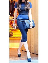 GGN Women's Back Zipper Bodycon Pencil Dress