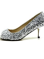 zapatos de mujer peep toe bombas de tacón de aguja zapatos a juego bolso garras más colores disponibles