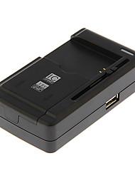 Yby-c1 slide-out universele batterij oplader voor de camera met usb-uitgang