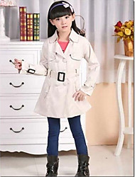 Girl's Fashion Joker Casual Solid Color Wind Coat