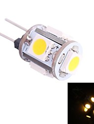 G4 0.5W 45LM 3500K 5x5050 Warm White LED Light Bulb(DC 12V)
