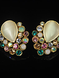 SZHB Women's Rhinestone Opal  Earrings