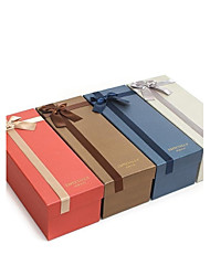 Special Paper Made Wine Gift Box With Ribbon(More Colors)