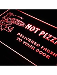 j407 Hot Pizza Delivery Services Cafe Neon Light Sign