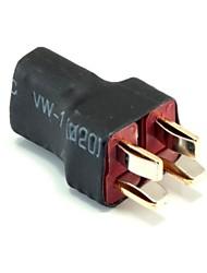 sem fios conectores / ficha 1 mulher t-plug para dois homens t-plug, interface paralela (10pcs / saco)