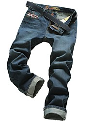elegantes pantalones de mezclilla hebilla diseñada delgada Tideway de los hombres del tamaño 30-40