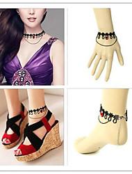 menina vampiro pedra artificial vermelho acessórios lolita gótica conjunto (pulseira / colar / pulseira)