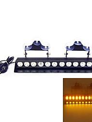 12 LED 3W Emergency Windshield Strobe Lightbar Car Styling LightBar (Optional Colors)